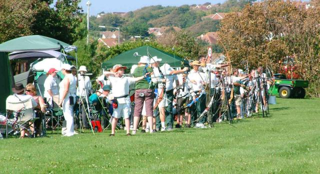 picture of Ditchling, Newhaven, St.Dunstans archers and spotters in glorious sunshine