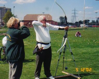 picture of an archer and spotter
